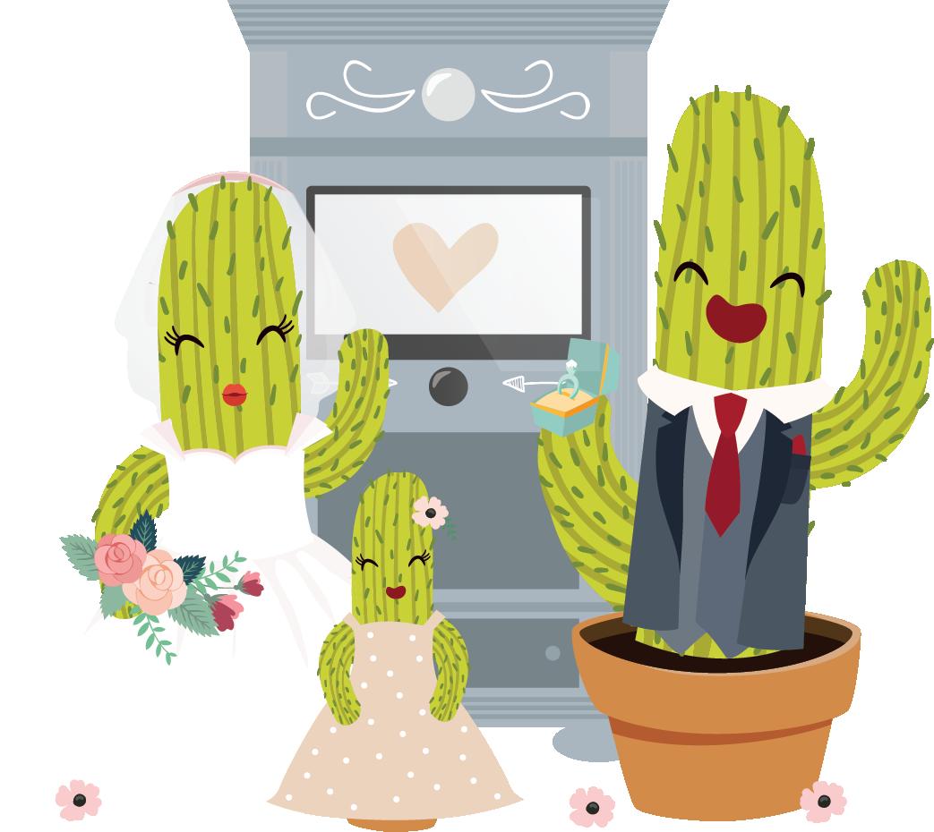 Illustratie bruidspaar
